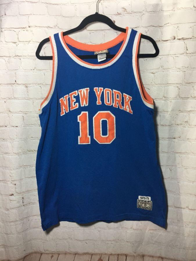 separation shoes 71638 4779f NBA NEW YORK #10 WALT FRAZIER BASKETBALL JERSEY