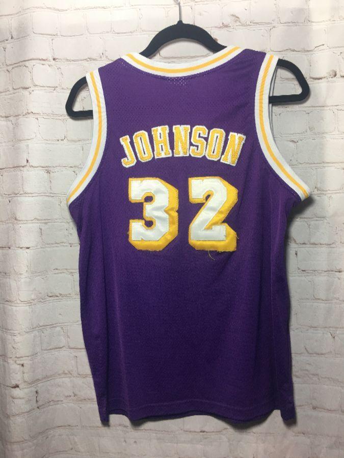 NBA LOS ANGELES LAKERS  32 JOHNSON BASKETBALL JERSEY » Boardwalk Vintage 39abe6b73