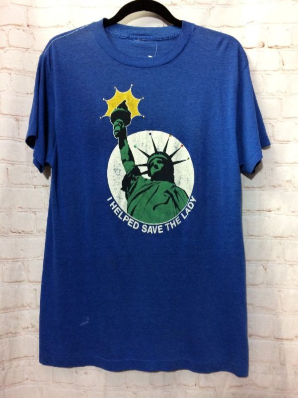 product details: T-SHIRT STATUE OF LIBERTY I HELPED SAVE THE LADY photo