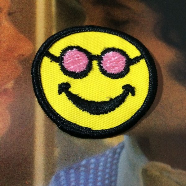 product details: BW PATCH - SMILEY FACE W/ROSE COLORED SUNGLASSES photo
