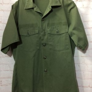 MILITARY SHIRT W/FRENCH FLAG PATCHES ON ARMS » Boardwalk Vintage