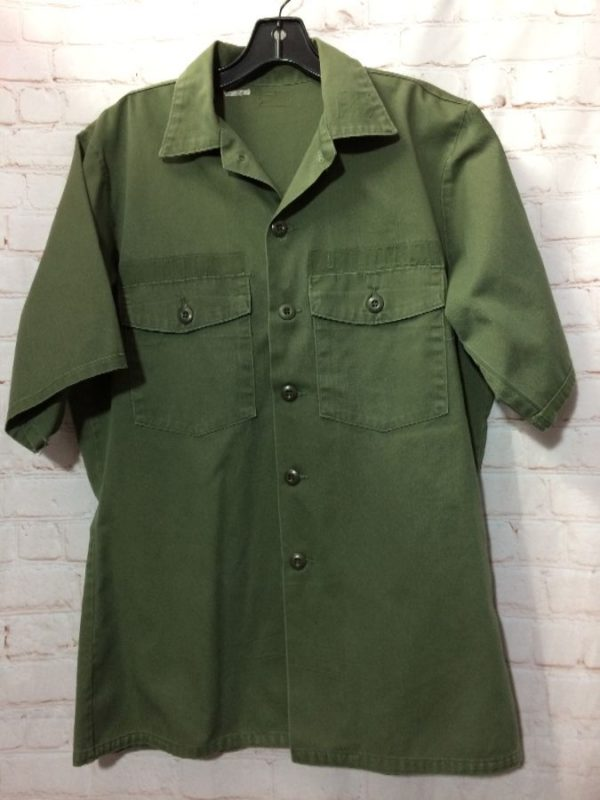 product details: MILITARY SHIRT COTTON POLY BLEND & 2 FRONT POCKETS photo