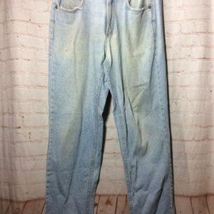 637e835d RETRO LEE DENIM JEANS - ACID WASHED - WORN/BROKEN IN - SHREDDED ...