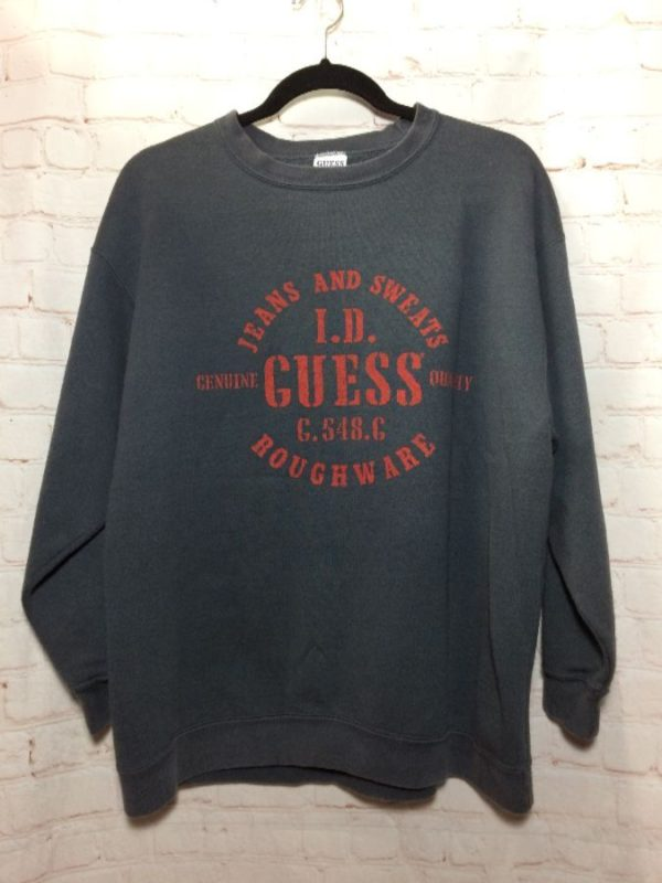 CLASSIC 1980'S GUESS LETTERED DESIGN SWEATSHIRT CREWNECK PULLOVER