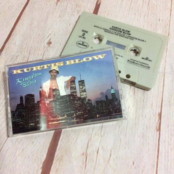 product details: CASSETTE TAPE - KURTIS BLOW/KINGDOM BLOW W/ LINER & PLASTIC CASE photo