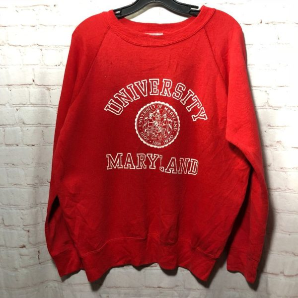 PULLOVER CREW-NECK UNIVERSITY OF MARYLAND SWEATSHIRT