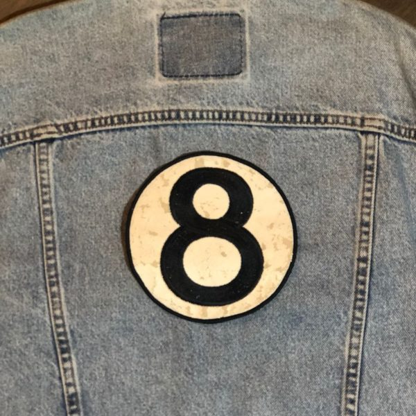 product details: 8 BALL BACK PATCH - LARGE photo