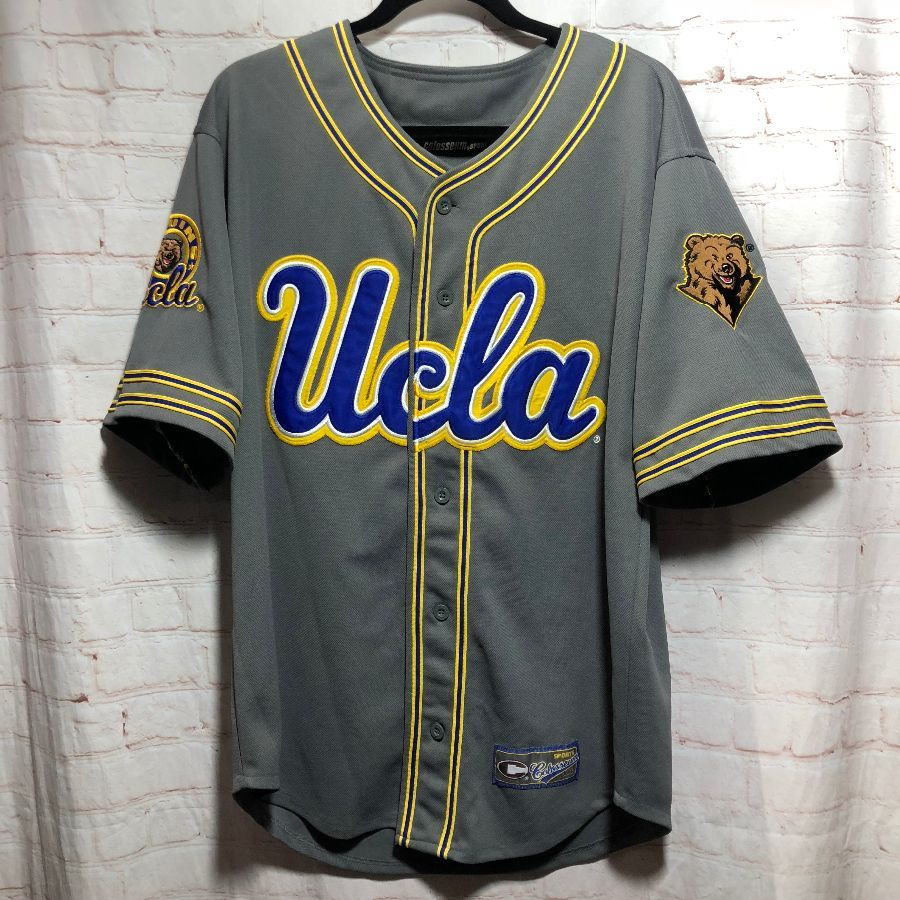 pretty nice ac3bf 18d56 BASEBALL JERSEY UCLA APPLIQUE LETTERING & LOGOS
