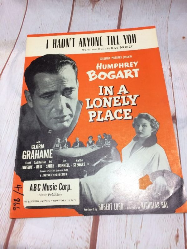 product details: I HADN'T ANYONE TILL YOU -  HUMPHREY BOGART - SHEET MUSIC photo