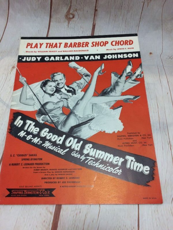 product details: PLAY THAT BARBER SHOP CHORD - JUDY GARLAND - SHEET MUSIC photo