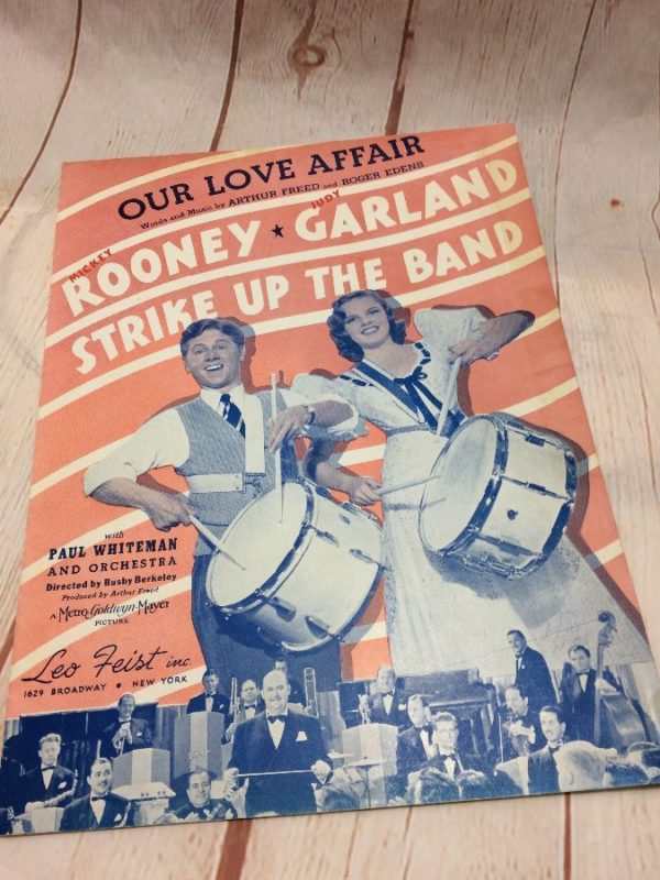 product details: OUR LOVE AFFAIR - JUDY GARLAND - SHEET MUSIC photo
