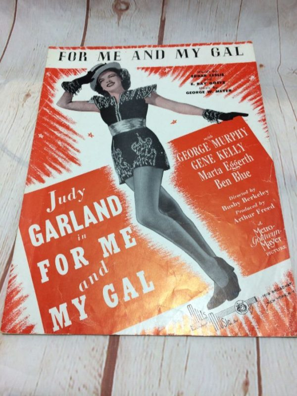 product details: FOR ME &  MY GAL - JUDY GARLAND - SHEET MUSIC photo