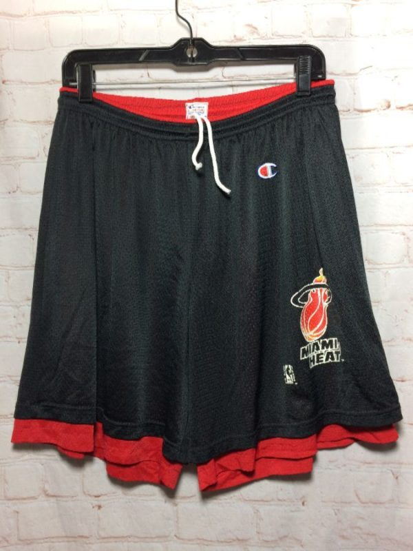 NBA MIAMI HEAT BASKETBALL SHORTS VINTAGE 1990'S CHAMPION