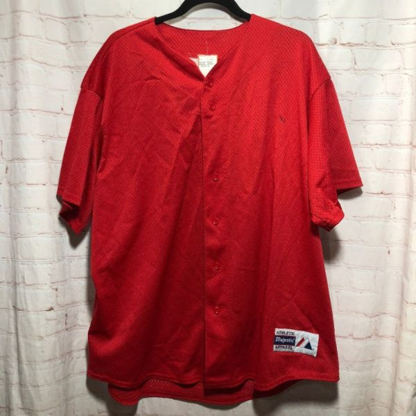 MAJESTIC BASEBALL JERSEY BLANK W/ LOWER LEFT FRONT LOGO