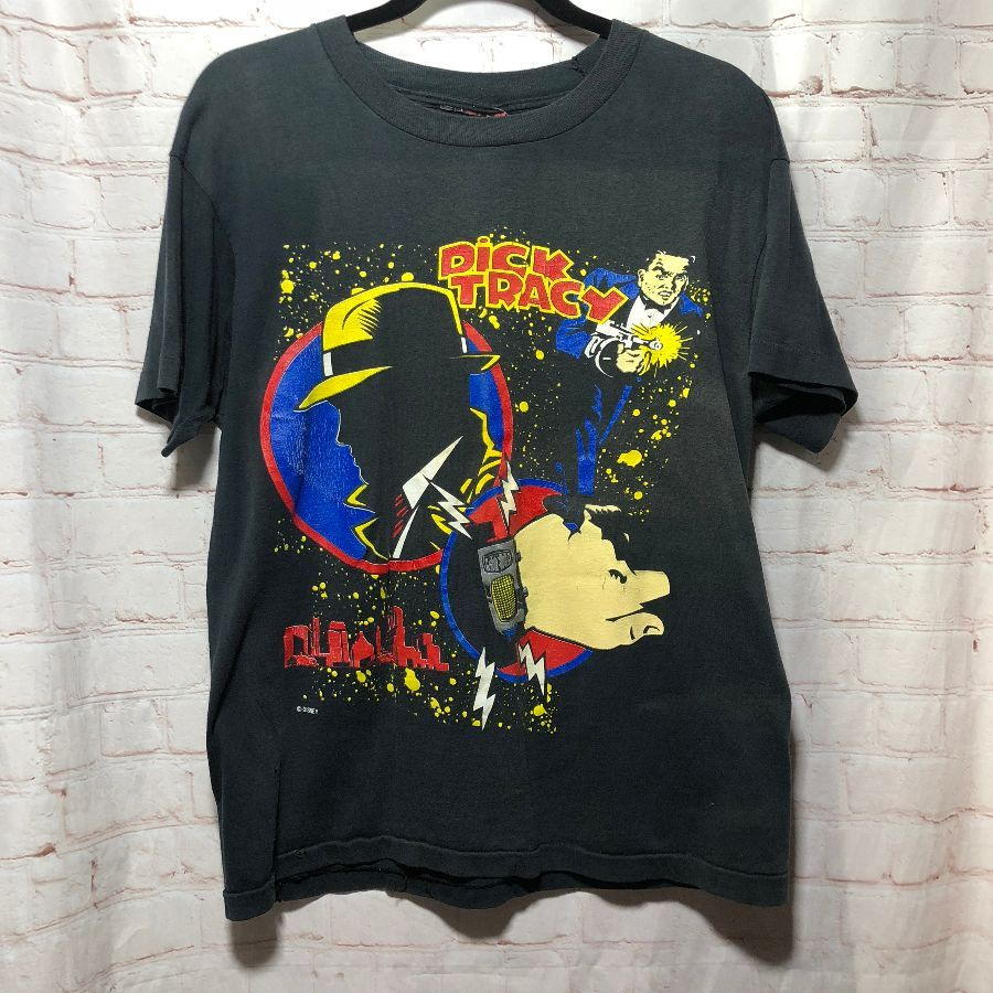Vintage T Shirt Disney Issued Dick Tracy Screen Printed Full Front