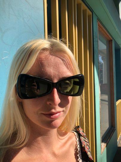 1960's Mod Black Cat Eye Sunglasses