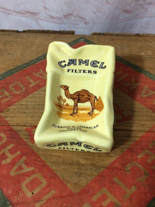 product details: NOS *DEADSTOCK CERAMIC CAMEL CIGARETTE ASHTRAY photo