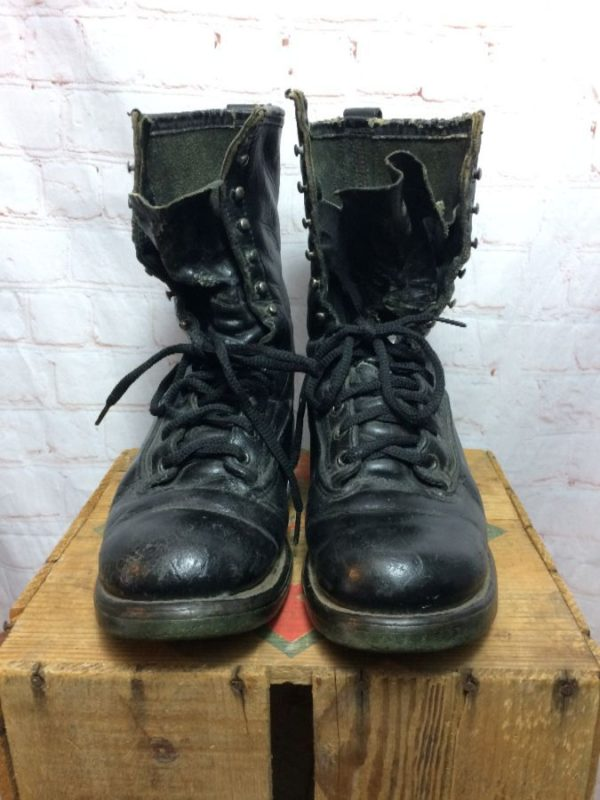 LEATHER RED WING LACE-UP BOOTS MILITARY STYLE