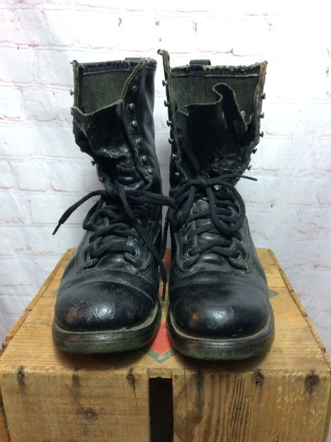 LEATHER RED WING LACE-UP BOOTS MILITARY