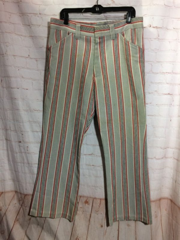 RETRO VERTICAL STRIPED DESIGN FUNKY TROUSERS