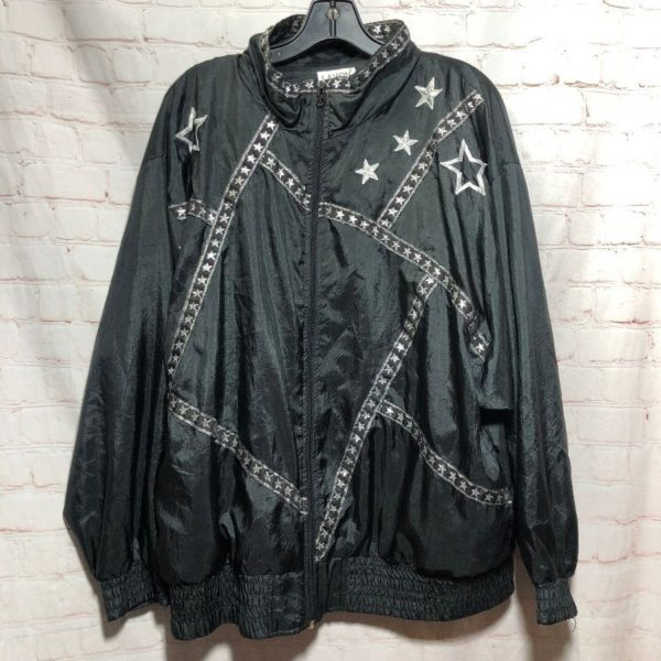 1980'S WINDBREAKER W/ EMBROIDERED STARS