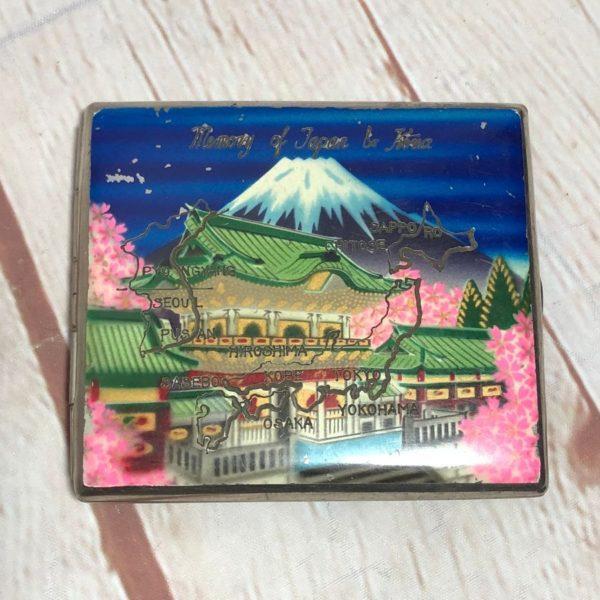 product details: MEMORY OF JAPAN & KOREA W/ MAP DESIGN  CARDHOLDER/WALLET W/ ENGRAVED INTERIOR photo