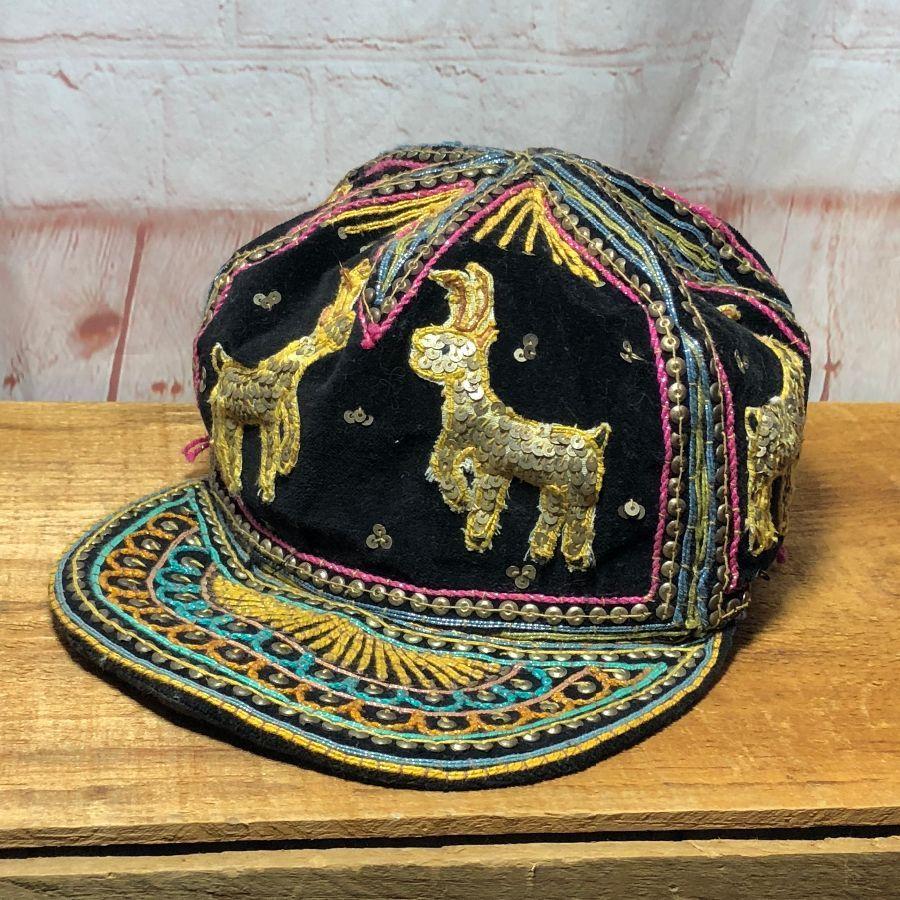 f7b2c855a9d85 VELVET EMBROIDERED HAT BURMA INDIA » Boardwalk Vintage