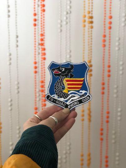 Vintage Military Patch- DRAGON To-Quac Khong Gian