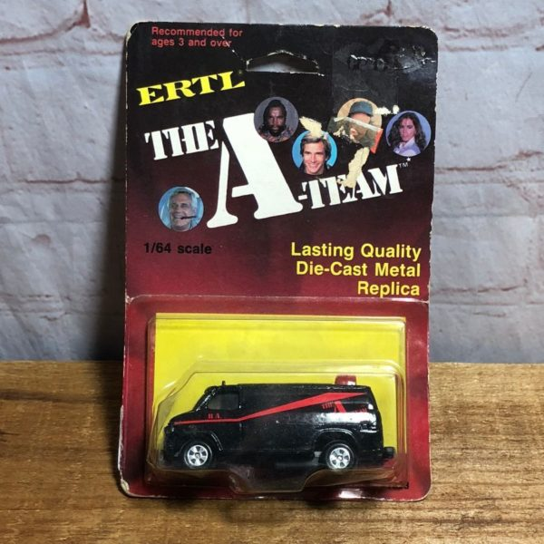 DIE-CAST METAL A-TEAM REPLICA TOY CAR IN ORIGINAL PACKAGE