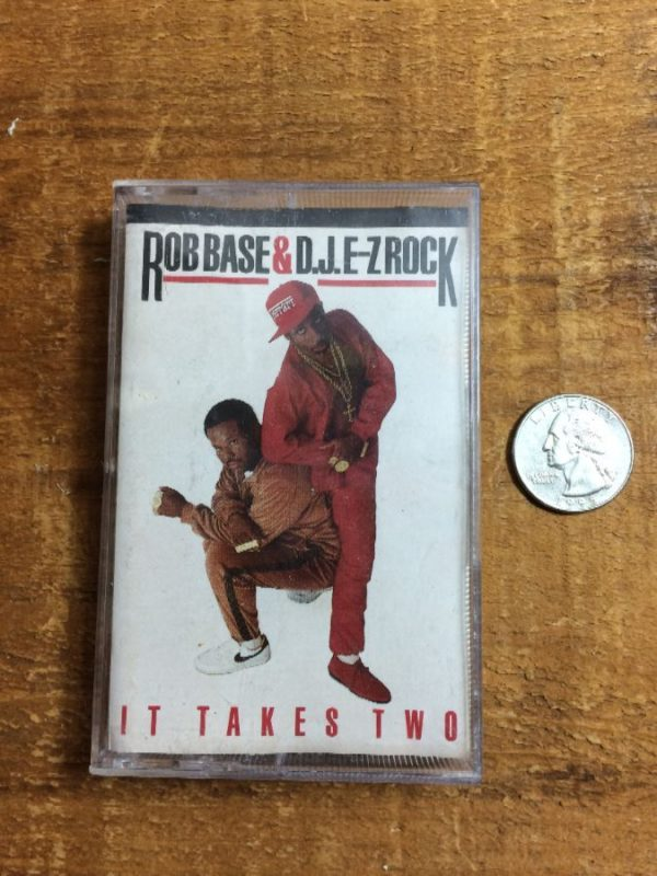 ROB BASE & DJ EZ ROCK/IT TAKES TWO – CASSETTE TAPE W/ LINER & PLASTIC CASE