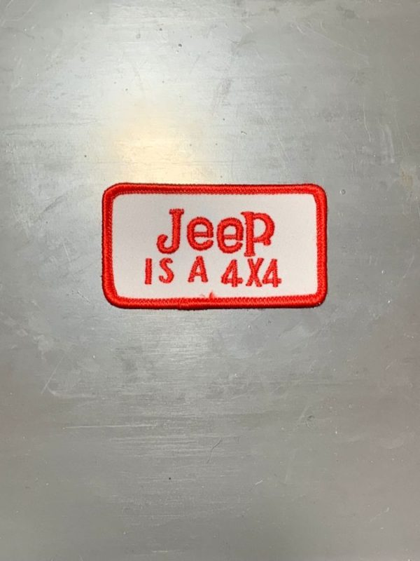 VINTAGE 1970'S-80'S JEEP IS A 4X4 EMBROIDERED PATCH