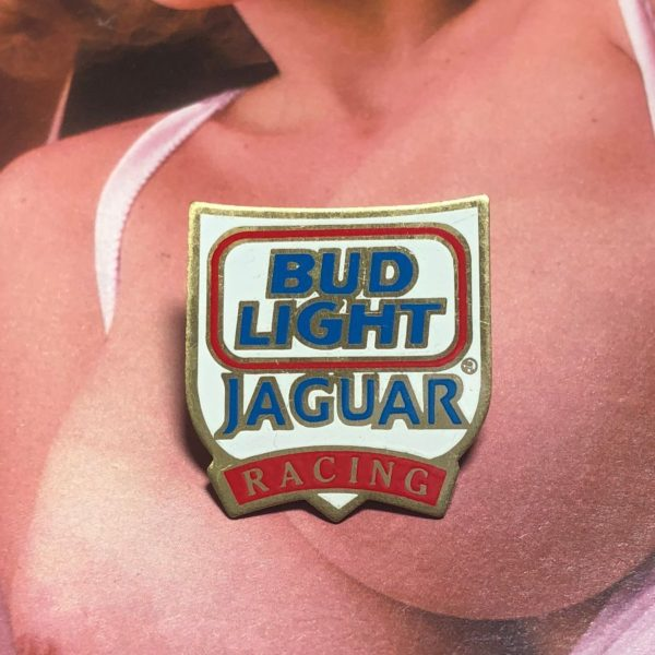 RARE VINTAGE BUD LIGHT JAGUAR RACING LOGO ENAMEL PIN