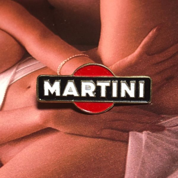 VINTAGE MARTINI LOGO ENAMEL PIN