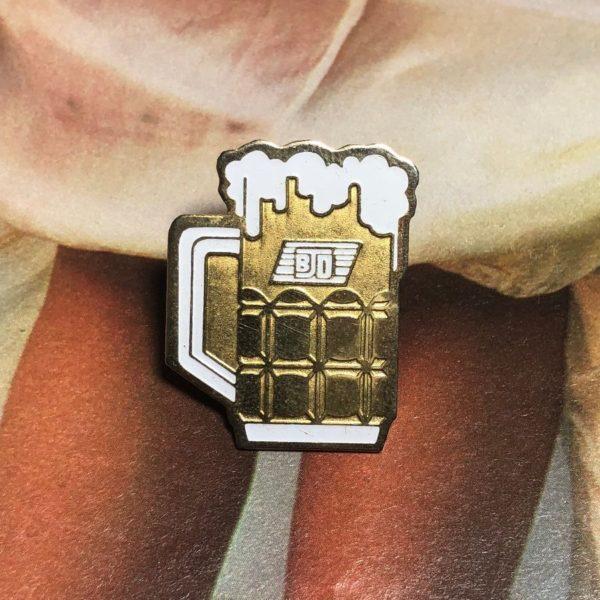 product details: VINTAGE BJD MUG OF BEER ENAMEL PIN photo