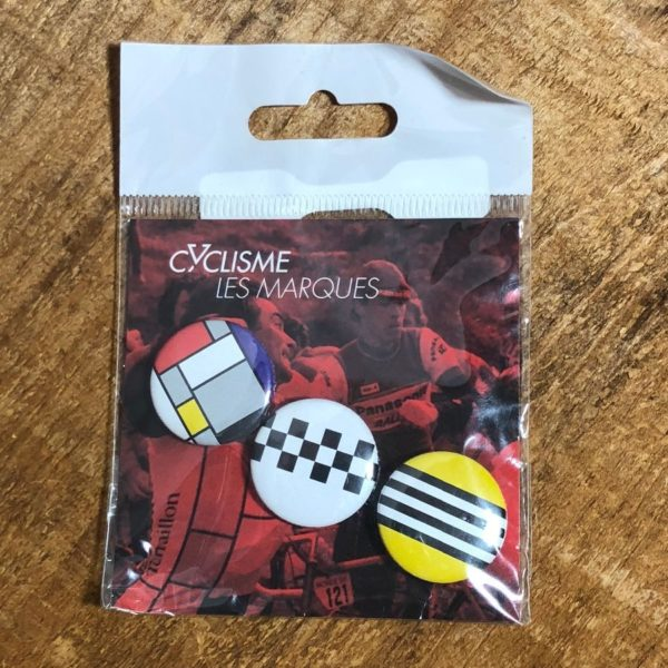 BUZZ WORKS 3 PACK BUTTON PACK – LE CYCLISME (CYCLIST) SERIES