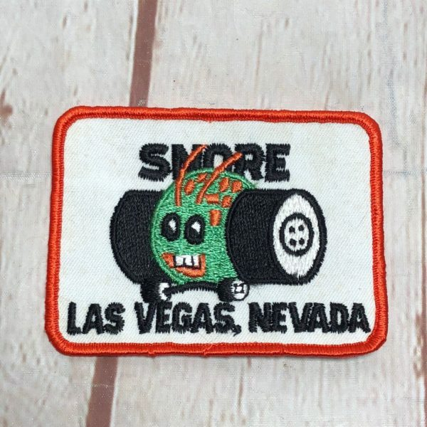 RETRO SNORE LAS VEGAS, NEVADA VINTAGE RECTANGLE SHAPED EMBROIDERED PATCH
