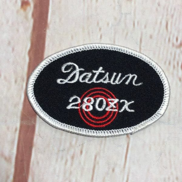 DATSUN 280ZX OVAL SHAPED EMBROIDERED PATCH