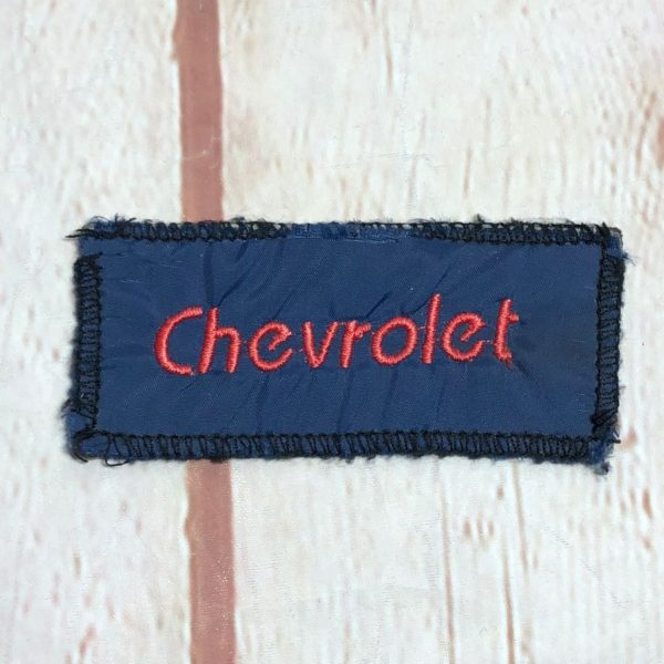 CHEVROLET RECTANGLE SHAPED EMBROIDERED PATCH