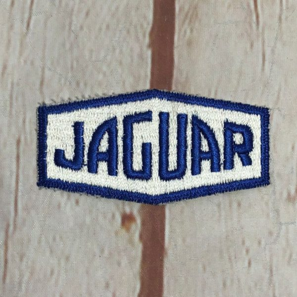 JAGUAR RECTANGULAR OCTAGON SHAPE VINTAGE EMBROIDERED PATCH