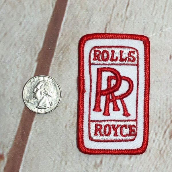 ROLLS ROYCE VINTAGE RECTANGLE SHAPED EMBROIDERED PATCH