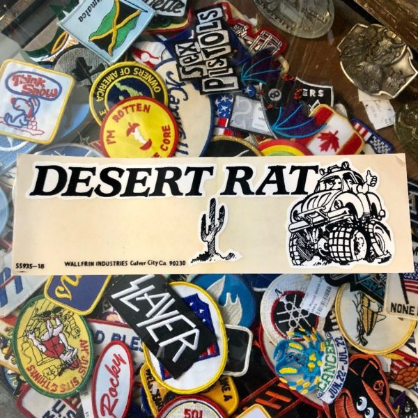 product details: VINTAGE 1980'S CLEAR VINYL BUMPER STICKER - DESERT RATS photo