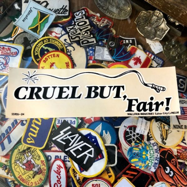 VINTAGE 1980'S CRUEL BUT FAIR – BUMPER STICKER