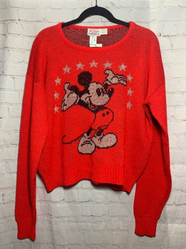 product details: Red Mickey Mouse Cliff Engle Knit Sweater photo