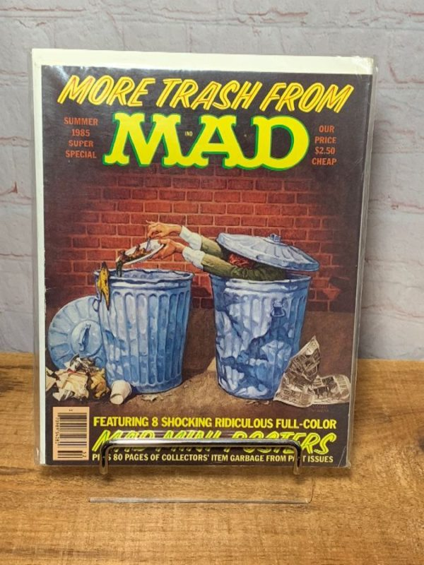 product details: MAD MAGAZINE MORE TRASH FROM MAD - SUMMER 1985 W/ MAD MINI POSTERS photo