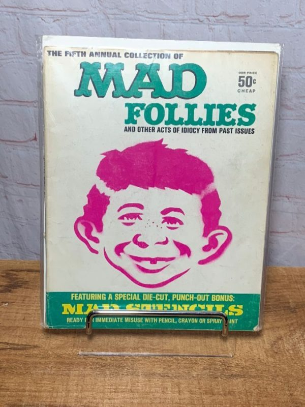 product details: 1967 MAD FIFTH ANNUAL COLLECTION OF MAD FOLLIES WITH STENCIL CUT OUTS photo