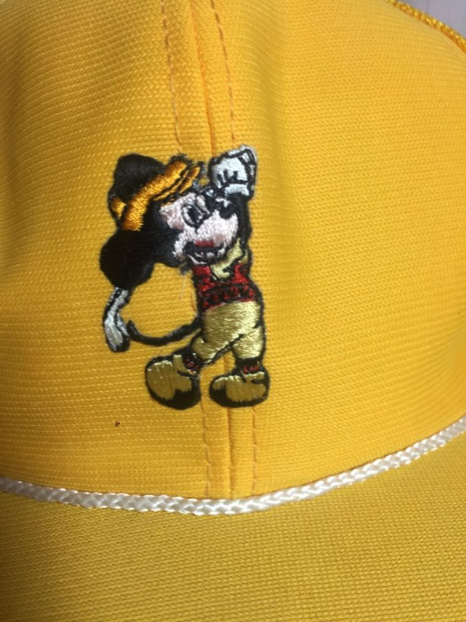 1970 S VINTAGE MICKEY GOLF MESH TRUCKER HAT W  EMBROIDERED PATCH ... 774df5bbc5a8