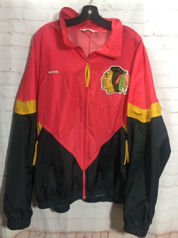 NHL CHICAGO BLACKHAWKS COLOR-BLOCK DESIGN WINDBREAKER