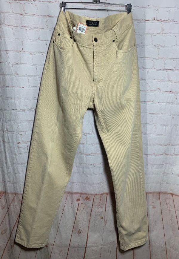HIGH WAISTED TAPERED LEG BRUSHED COTTON VERSACE JEANS