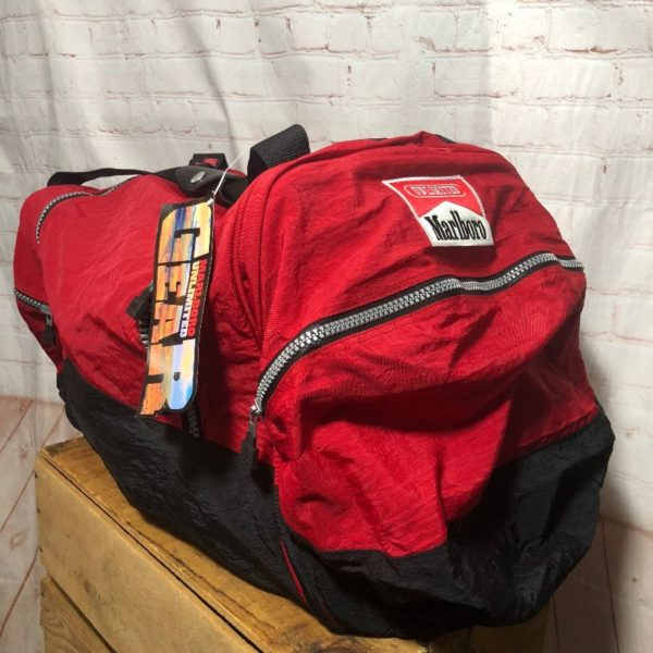 product details: 1990'S MARLBORO UNLIMITED HEAVY DUTY OUTDOOR DUFFEL BAG photo