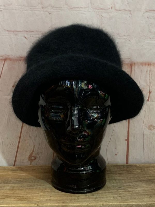 VINTAGE THE SCALA COLLECTION SOFT FUZZY BOWLER HAT